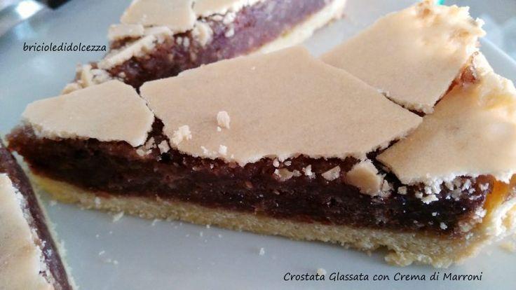 Crostata+Glassata+con+Crema+di+Marroni
