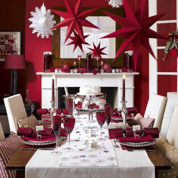 Red And White Christmas Tablescape.....