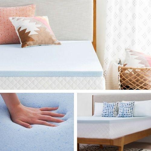 """2"""" Inch Gel Infused Memory Foam Mattress Topper Soft Cal King Size Plush Bed Pad #MemoryFoamMattressTopper"""