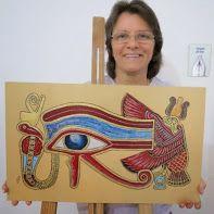 Quadro Olho de Horus em MDF por Suely Rodrigues.