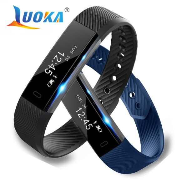 ID115 Smart Bracelet Fitness Tracker Step Counter Activity Monitor Band Alarm Clock Vibration Wristband for iphone Android phone //Price: $26.52      #sale