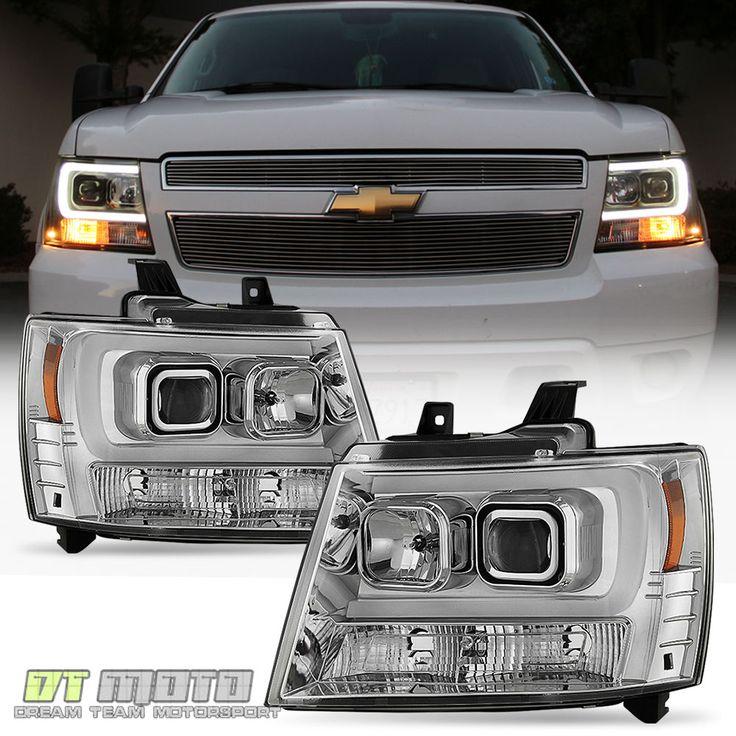 2007-2014 Chevy Suburban Tahoe Avalanche [LED Tube DRL] Projector Headlights Set | eBay Motors, Parts & Accessories, Car & Truck Parts | eBay!