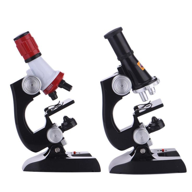Stereo Microscope Kit Lab 100X-1200X Home School Students Science Educational Microscope Kids Gift