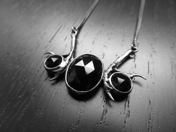 DISCONTINUED Andromeda Necklace Onyx by charlotteburkhart on Etsy