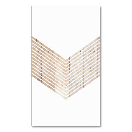 White Minimalist chevron with Wood Business Card Templates #BusinessCard #Design #wood #chevron