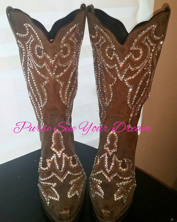 Custom Designed Swarovski Crystals Cowboy by PurseSueYourDream  swarovski cowboy boots, swarovski crystal, rhinestone cowboy boots, wedding cowboy boots, wedding shoes, cowboy bling boots, bling boots, embellishes boots, bedazzled boots, rhinestone cowgirl, swarovski shoes, wedding cowboy boot, bling rodeo shoes
