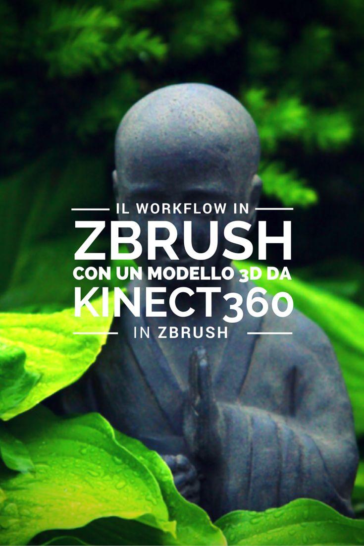 Carlo Macchiavello ci mostra il workflow in Zbrush con un modello 3D fatto con il Kinect360.