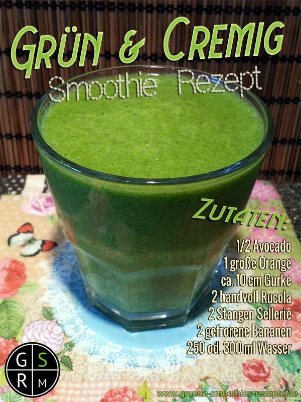 Grüner Smoothie mit Avocado