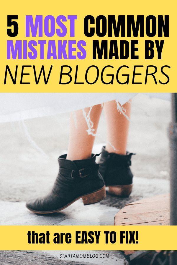 5 Crazy Mistakes Amateur Blogs Make Start A Mom Blog