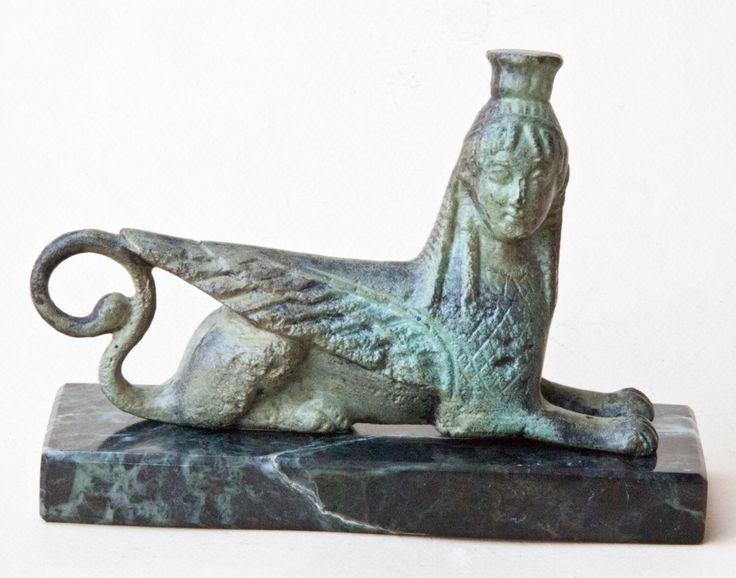 Mythical Sphinx Bronze Sculpture, Greek Mythical Creature, Ancient Greece, Museum Replica, Metal Sculpture, Greek Art Decor, Unique Gift by GreekMythos on Etsy https://www.etsy.com/listing/206115842/mythical-sphinx-bronze-sculpture-greek