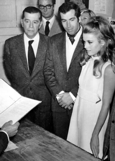 Today 8-14 in 1965 - Jane Fonda married French film-maker/director Roger Vadim. They had a daughter together, Vanessa. The couple divorced in 1973.