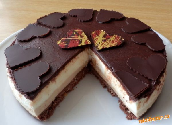 nepečený dortík Latté macchiato