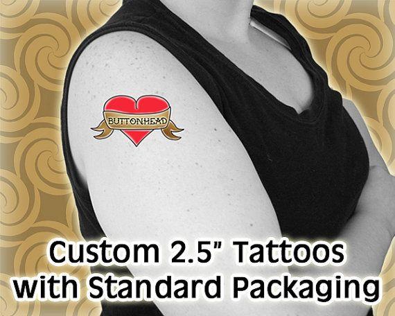 24 custom temporary tattoos 25 inch standard by buttonhead for Custom temp tattoos