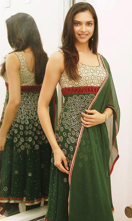 Deepika In a stylish Anarkali by Woman's World.