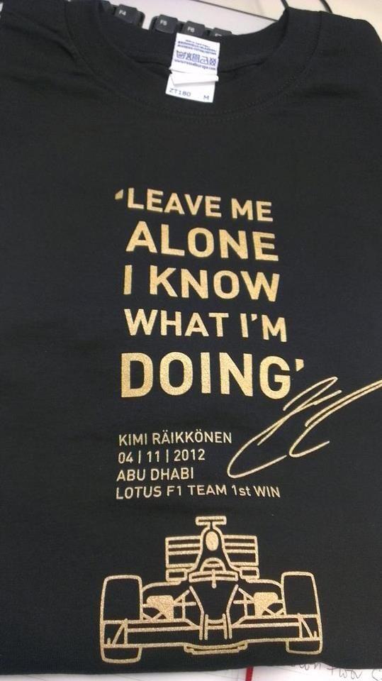 Kimi's Abu Dhabi t-shirt...