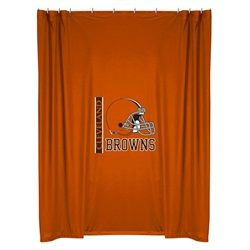 Kids Cleveland Browns Fabric Shower Curtain