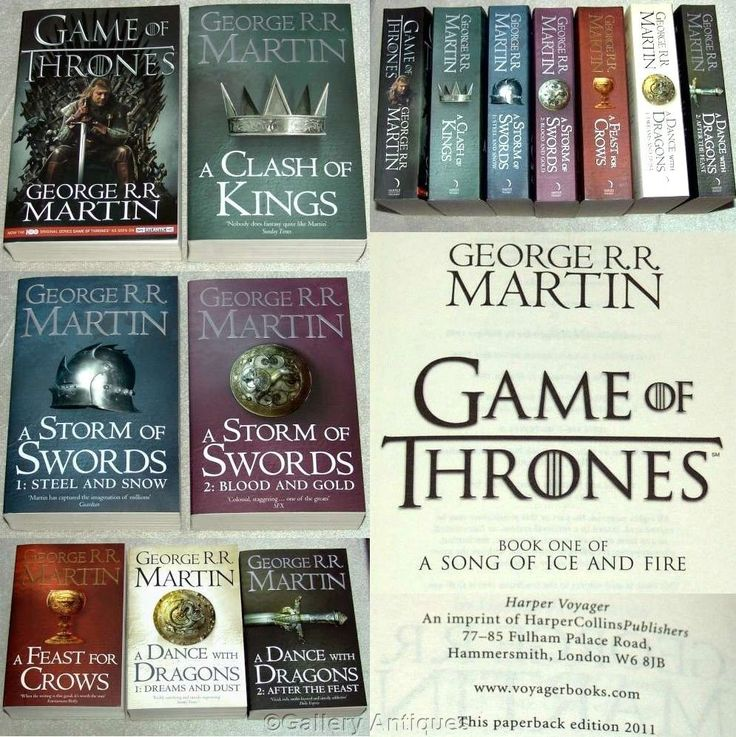 George R R Martin GAME of THRONES a song of ice and fire SET of SEVEN paperback BOOKS