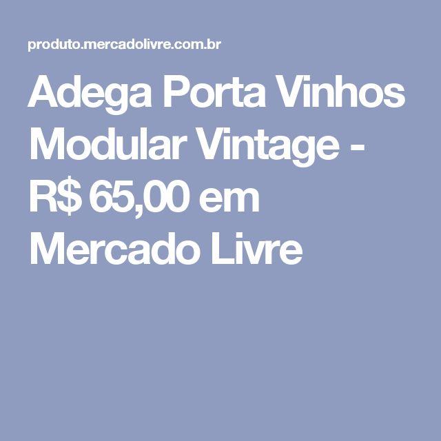 Adega Porta Vinhos Modular Vintage - R$ 65,00 em Mercado Livre