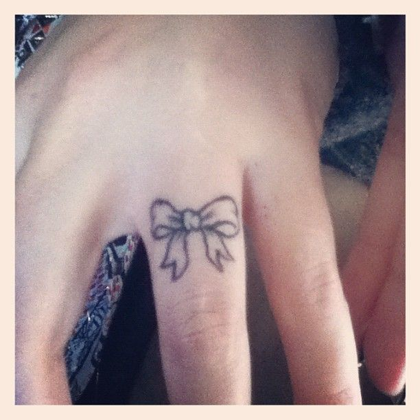 Bow tattoo.. This small but I'm thinking on my shoulder..