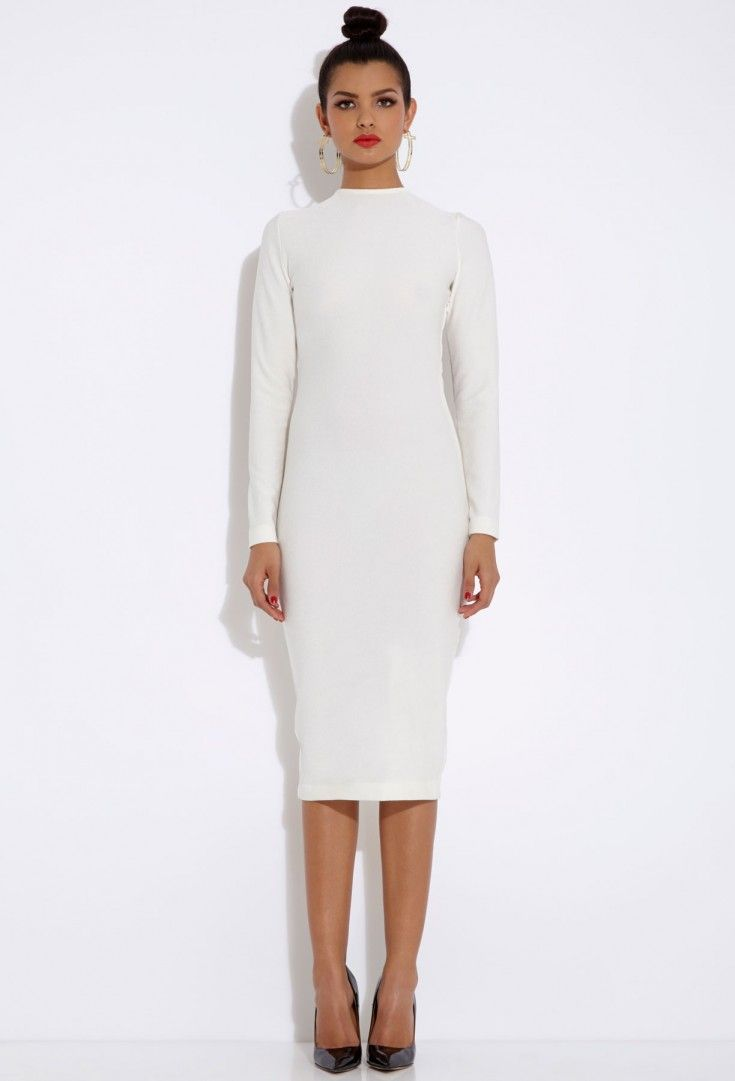 25 best ideas about long sleeve midi dress on pinterest