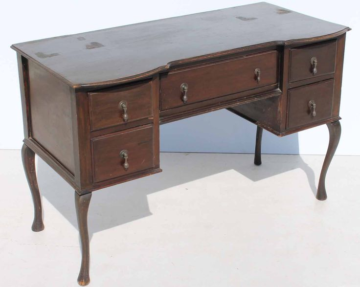 French Style Dressing Chest / Desk with Queen Anne Feet  size: 1110 L x 540 W x 760 H  very nice piece to be painted  @R1499  Call 076 706 4700  www.furnicape.co.za  1028