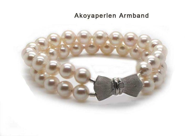Perlenarmband Akoyaperlen