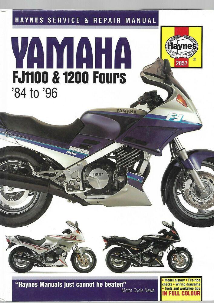 Haynes Yamaha Fj1100 Fj1200a Fours 1984 1996 Uk Us Service And