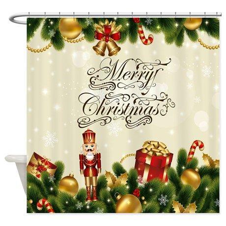 Nutcracker Christmas Shower Curtain on CafePress.com