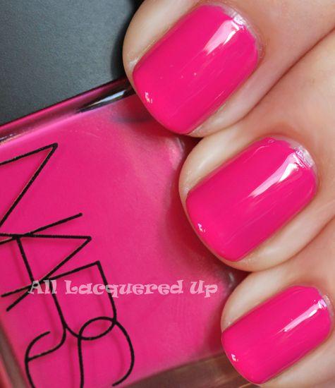 Pink Nails!: Nails Art, Nail Polish, Nails Colors, Hot Pink Nails, Beautiful, Summer Nails, Summer Colors, Nars Schiap, Pink Nails Polish Colors