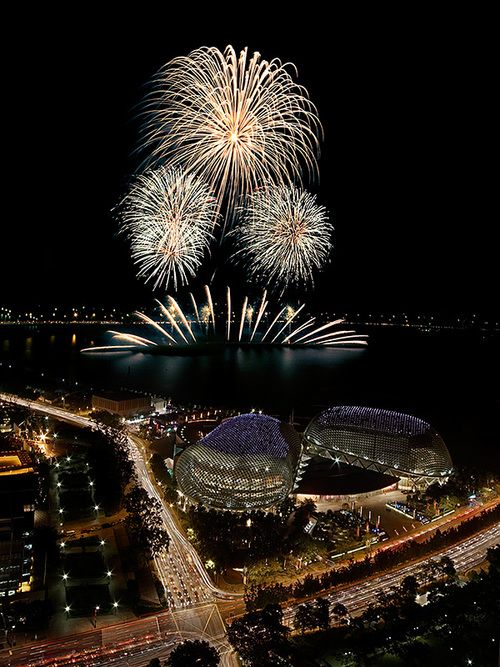 Fireworks...This is one of the seven wonders of the world for me...invented in China as a weapon of war they are explosions of sheer beauty to me !