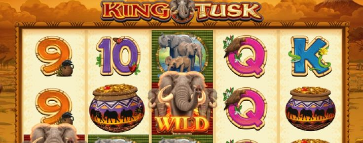 King Tusk is a video slot from the Microgaming company. 5 reels and 25 pay lines will take you on a tour through African bush where meet the elephants and card symbols. #KingTusk #videoslot