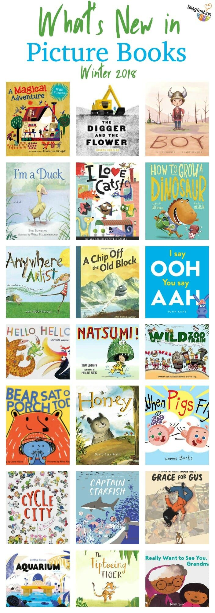 Do you love finding new picture books your kids will love? Here's the best of what you'll see on the new shelf at your library or bookstore.