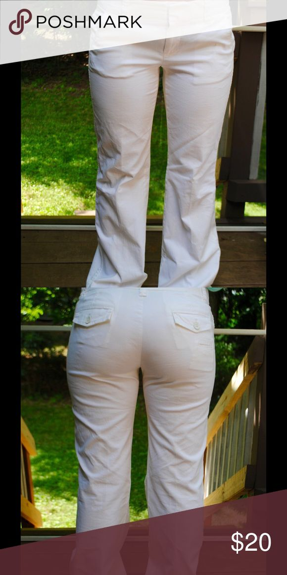 White Gap Trouser Pants White trouser pants from Gap. In good condition. Size 2 regular. GAP Pants Trousers
