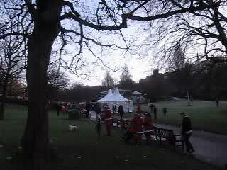 The starting line!  Santa Run 2015, Edinburgh, Scotland   The starting line!