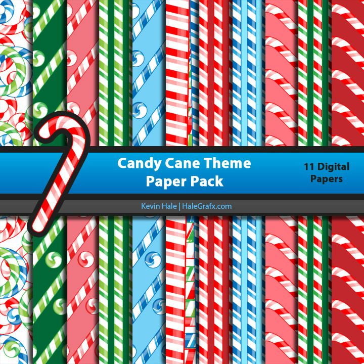 FREE Christmas Candy Cane Digital Paper Pack - looks like these patterns will be fab to layer on our cross stitch Christmas cards ;)