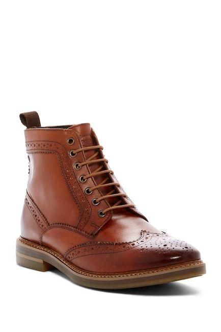 Base London Hurst Wingtip Leather Boot