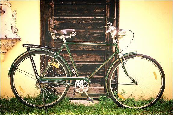 Bild 1: Vintage Rad aus Indien, Nostalgie Fahrrad, Retro Rad, Waffenrad, Citybike, 3-Gang