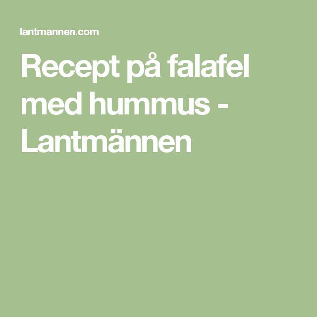 Recept på falafel med hummus - Lantmännen
