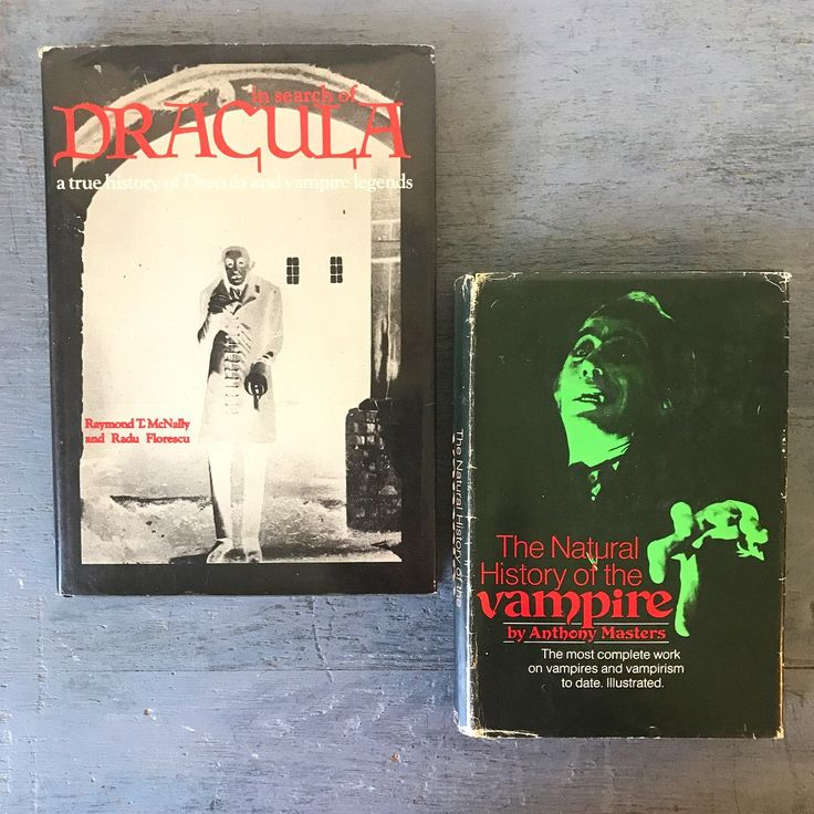 vintage horror books - In Search of Dracula - The Natural History of the Vampire - Raymond T McNally - Anthony Masters - 1970s