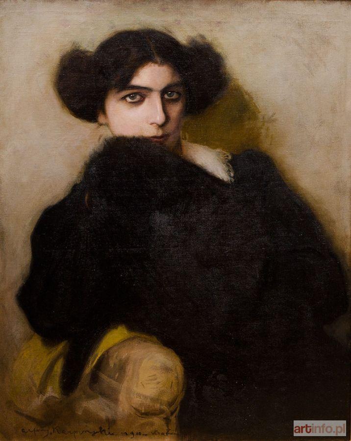 Alfons KARPIŃSKI ● Portret Panny Jadwigi Turowicz, 1910 r. ●