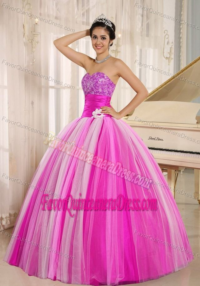 Multi-color 2013 New Arrival Strapless Quinceanera Dress Made in Tulle Fabric