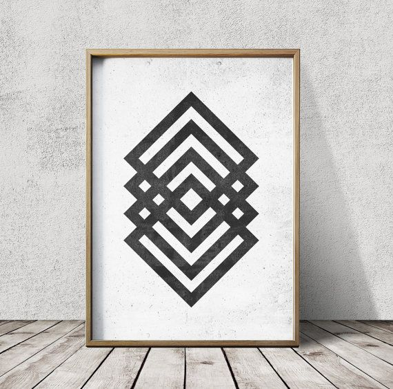 Geometric Art  Geometric  Prints  Abstract Prints  Nordic