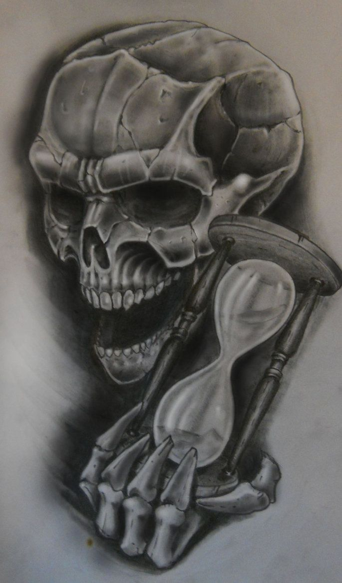802 best images about the grim reaper left his skull for Skull hourglass tattoo