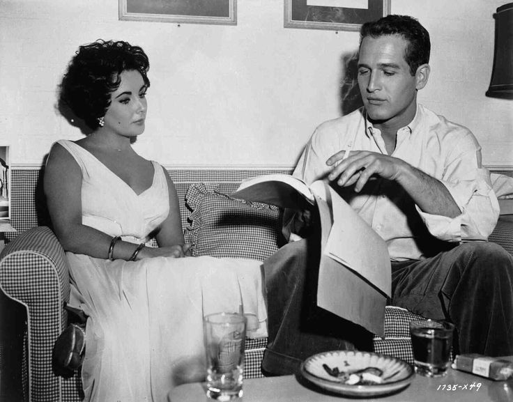 best cat on a hot tin roof images tin cans  running lines on the set of cat on a hot tin roof elizabeth taylor and paul newman