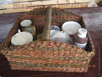 Мастер-класс по плетению из газет: Ящик для инструментов
