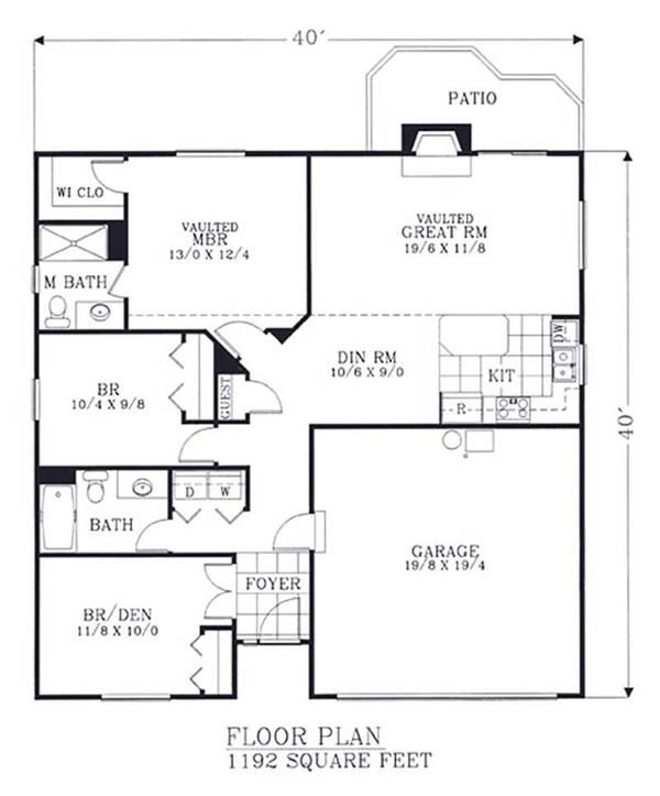 First Floor Plan Of Bungalow Traditional House 46059