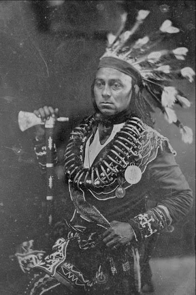 Maun-gua-daus (aka Great Hero, aka George Henry) - Ojibwa - circa 1848 Considered the Chief of the Ojibwa nation 1846-1848