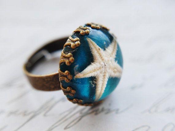 Real Starfish Ring <3