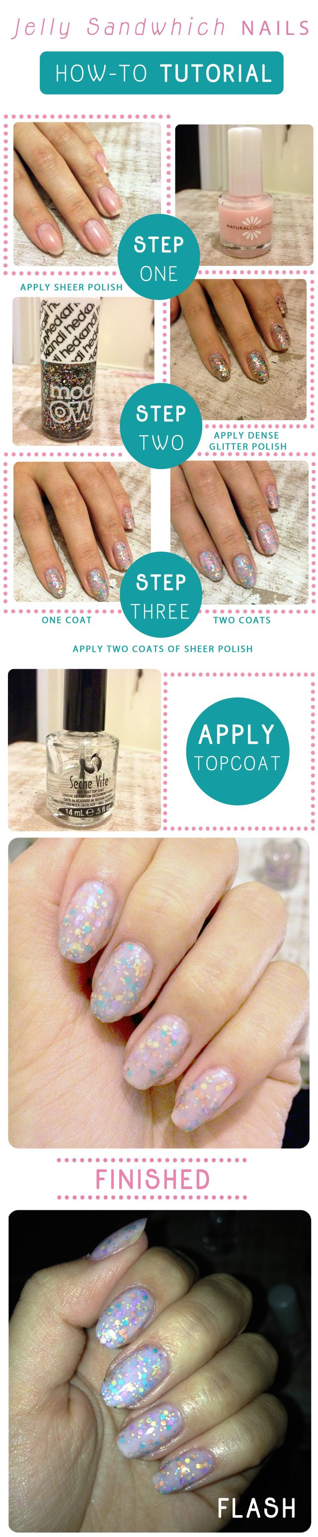 Jelly Sandwhich Nails Tutorial