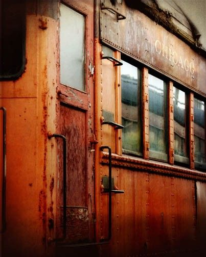 old railroad car.... worn... rusted... corroded... tarnished and beautiful...